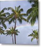 Oahu, Rainbow Metal Print