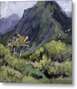 Oahu Valley Metal Print by L Diane Johnson