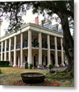 Oak Alley Plantation Metal Print by Perry Webster