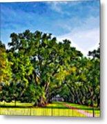 Oak Alley Plantation Metal Print by Steve Harrington