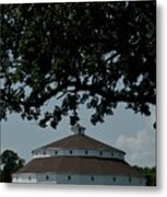 Oak And Round Barn Metal Print