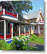 Oak Bluffs Gingerbread Cottages 1 Metal Print