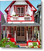 Oak Bluffs Gingerbread Cottages 2 Metal Print