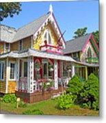 Oak Bluffs Gingerbread Cottages 3 Metal Print