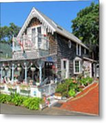 Oak Bluffs Gingerbread Cottages 8 Metal Print