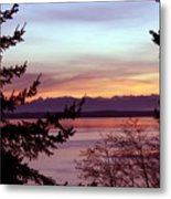 Oak Harbor Sunset 1016 Metal Print