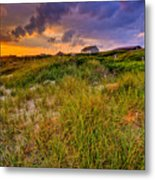Oak Island Sunset Metal Print