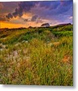 Oak Island Sunset Metal Print