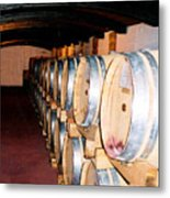 Oak Red Wine Barrels Metal Print