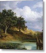 Oaks Beside The Water 1832 By Christian E. B. Morgenstern Metal Print