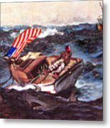Obama At Sea Metal Print