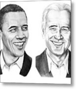 Obama Biden Metal Print by Murphy Elliott