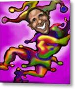 Obama Jester Metal Print