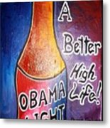 Obama Light Metal Print