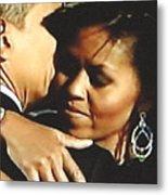 Obama Love Metal Print
