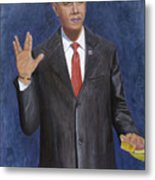 Obama Taking The Oath Of Office Metal Print by TC North
