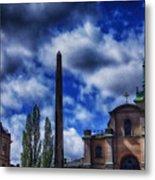 Obelisk In Gamla Stan Metal Print