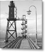 Obereversand Lighthouse - North Sea - Germany Metal Print