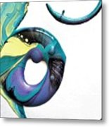 Oblique Paint Metal Print