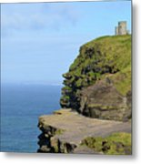 O'brien's Tower Along The Cliff's Of Moher In Ireland Metal Print