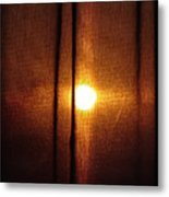 Obscured Sunset Metal Print