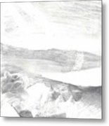 observation - Out the airplane window Metal Print