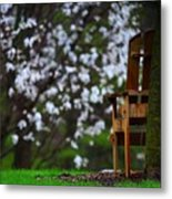 Observation Chair Metal Print