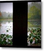 Observation Deck On A Misty Lake  Metal Print