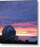 Observatory Sunset Metal Print