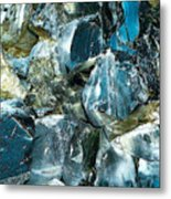 Obsidian In Newberry National Volcanic Monument, Oregon  Metal Print
