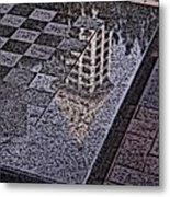 Occidental Park Checkerboard Metal Print