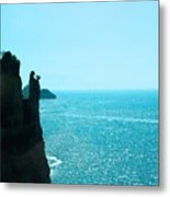 Ocean At Amalfi Metal Print