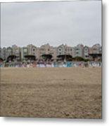 Ocean Beach Houses Metal Print