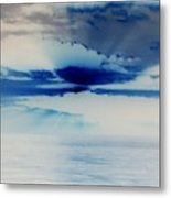 Ocean Blue Monday Metal Print