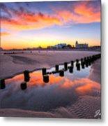 Ocean City Afterglow Metal Print