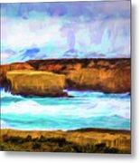 Ocean Cliffs Metal Print