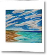 Ocean Clouds Metal Print