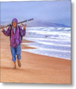 Ocean Fisherman Metal Print