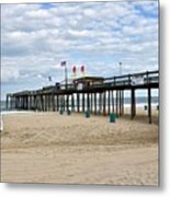 Ocean Fishing Pier Metal Print