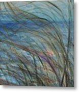 Ocean Grasses In The Wind Metal Print