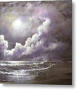 Ocean Grove Moon Metal Print