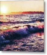 Ocean Landscape Sunrise Metal Print