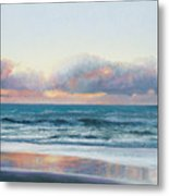 Ocean Painting - Days End Metal Print