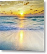 Ocean Reflections At Sunrise Metal Print