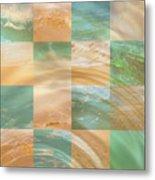 Ocean Ripples Metal Print