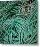 Ocean Ropes Metal Print