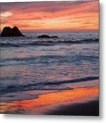Ocean Sky Awash In Color Metal Print