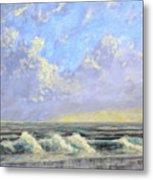 Ocean Storm Sunrise Metal Print