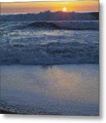 Ocean Wave Kisses The Sun Metal Print