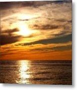 Ocean View Sunset Metal Print